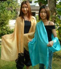 100% Thai Silk Baroo Scarves