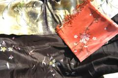 Hand-painted Silk Scarves
