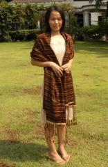 100% Thai Silk Puffed Scarves