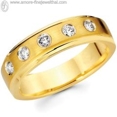 Wedding Ring with diamond 14K RWCD001G