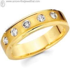 Wedding Ring with diamond 14K RWCD001G