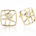 Brocade Square Stud Earrings