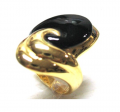 Sterling Silver Ring with Black Agate