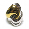 Sterling Silver and Bronze, Two tone color Ring