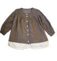 Girl woven top (W-FLB)