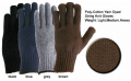 Poly-Cotton Yarn Dyed String Knit Gloves.
