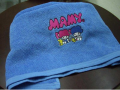 Towel embroidered logo