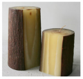 Hand Rolled Log Candle