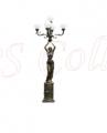 Bronze garden lamp