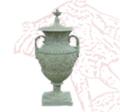 Middle Grape Vase