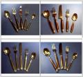 Bronze Cutlery with Wood Handle