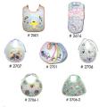 Infant bibs with plastic