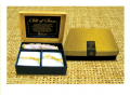 Thai silk soap set in gold.