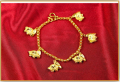 Rabbit charms gold anklet