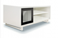 LT-001 sliding glass TV cabinet - open