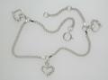 Clear Crystal Hearts Bracelet