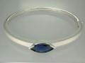 Bangle with blue CZ stone