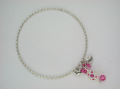 Bangle with pink CZ stone