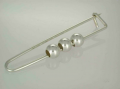 Silver Beads Brooch