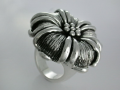 Oxidized Flower Ring