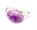 Sterling silver ring with natural stone
