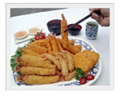 Breaded Shrimp In Various Types