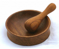 Mini Teak Mortar Pestle