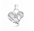 Heart shape silver pandant