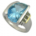 Sky Blue gold ring