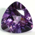 Deep purple amethyst stone