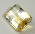 Yellow Emerald Cut Citrine stone