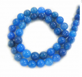 Oval Shape Blue Quartz Bead String