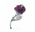 Ruby Brooch with diamonds