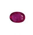 Oval ruby stone