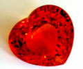 Heart shaped Spessartite stone