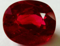 Dark red ruby stone