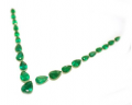 Pear shape emeralds