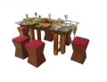 Dining sets, teak legs
