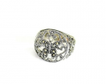 Sterling Silver Marcasite Butterfly Ring