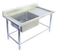 Stainless steel sink with a hole table