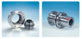 Flexible couplings with oil injection mounting