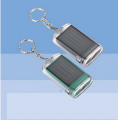 One LED solar flashlight with keychain