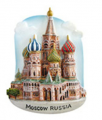 Worldwide souvenir magnets Church of Moscow (in Russian)