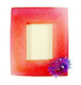 Photo frame (clear polyresin) magnets Crab