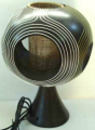 Mango wood/rattan lamp LR50210