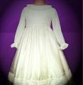 Baby chiffon dress with decorative lace tape