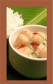 Tom Kha (shrimp Ball) with rice