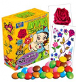 Choco fun with tattoo flower candy