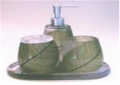 Bathroom set Tabac leaf (green) ZBR01030_grn