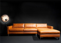 Leather couche Box Chaise
